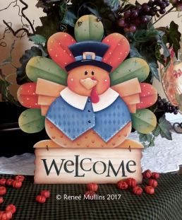 #718 Tom Turkey Welcome (PATTERN)